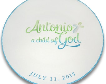 Child of God Baptism Personalized Signature Plate