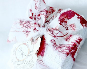 Fabric Ribbon, Cotton Ribbon, Gift Wrap Ribbon, Fabric Packaging, Cotton Ribbon, Frayed Ribbon, Christmas Ribbon