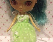 Mint Green dress for LPS Petite Blythe