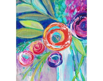 blooms, flowers, flower, art, floral, bouquet,  flower art, boho, contemporary art, from wall art, flower painting, home decor, painting