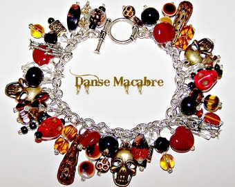 "DANSE MACABRE ""Day of the Dead"" Charm Bracelet"