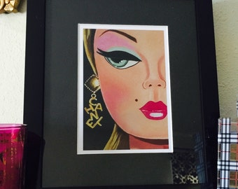 Custom One of a Kind 9.5 x 11.5 Framed Chanel Barbie Art Print