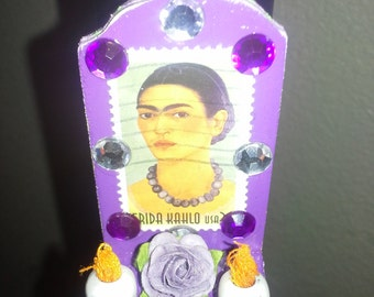 Frida Kahlo Wooden Altar Shrine Day of the Dead Magnet FREE SHIPPING within US