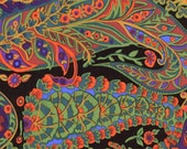 Paisley Jungle in Moss by Kaffe Fassett GP60 Westminster Fabric / 1/2 yard Cotton, Quilt Craft and Apparrell fabric