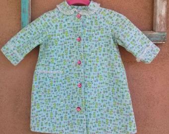 Vintage 1960s Girls Robe Corduroy Kangaroos Bears 3T 4T 2015219