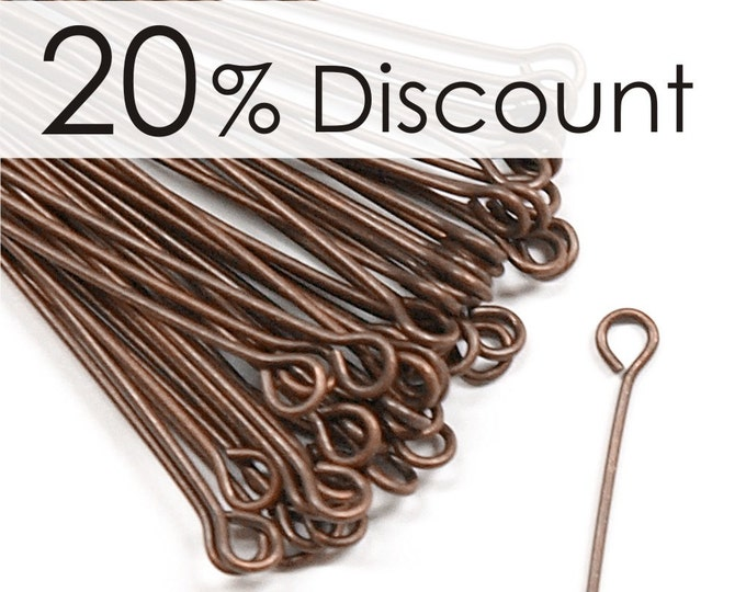 EPBAC-5021 - Eye Pin, 2 in/21 ga, Antique Copper - 250 Pieces (5pk)