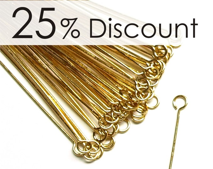 EPBGP-5024 - Eye Pin, 2 in/24 ga, Gold - 500 Pieces (10pk)