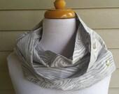 wood grain print cotton infinity scarf cowl