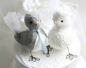 Bird cake topper - Wedding cake topper  Love Birds - Wedding Bird Cake Topper- CUSTOM ORDER!