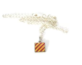 Y (Yankee) Nautical charm necklace. Signal code flags. 925 enamel baseball