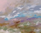 Landscape Abstract Acrylic Painting Giclee Print Impressionist Art Earthtones Made To Order Large Fine Art Print Wall Decor by Linda Monfort