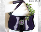 RESERVED Big boxy bohemian cross body bag deep purple