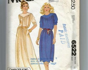 McCall's Misses' Dress Pattern 6522