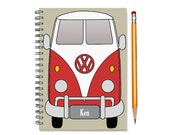 2015 2016 Monthly Planner, Personalized Calendar Notebook, Split Window Single Cab, Husband Dad, Car Enthusiast Gift, SKU: pngum