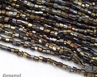 11/0 Brown Iris 2 Cut Czech Seed Bead (Hank) #CSN023