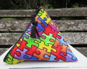Rainbow Puzzle Menstrual Cup Pouch