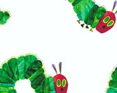 ON SALE Lampshade Lamp Shade made Kids ERIC Carle Very Hungry Caterpillar, Any Color Trim, 4 Sizes