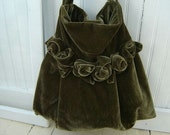 Customs Listing for Michelle Bohemian Velvet  Hobo Bag Shoulder Bag Tote