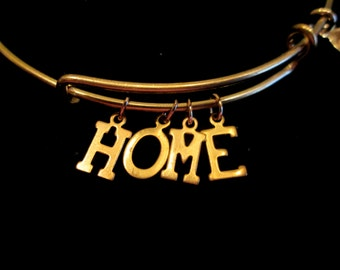 Word or Name Expandable Wire Bangle Bracelet