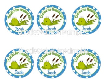 Personalized  Printable Frog Treat Bag Tags