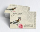 Business Cards  Custom Business Cards  Personalized Business Cards  Business Card Template  Vintage Business Cards  Bird Business Card V9