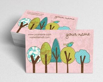 Business Cards  Custom Business Cards  Personalized Business Cards  Business Card Template  Modern Business Cards  Bird Business Card  B9