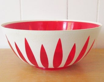 vintage reagline plastic lotus bowl