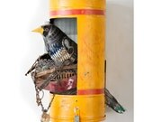 Magpie II in Vintage Mailbox Dimensional Metal Wall Sculpture
