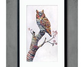 Owl Art Print / Beauty in Every Shadow Print by Dolan Geiman