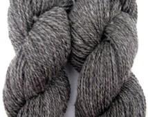 Gray Cormo Wool and Alpaca Yarn, for Knitting, Crochet, Weaving, and Felting, Farm Fresh Worsted, 250 yards