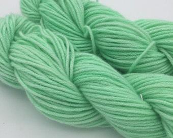 Cashmere Yarn, Aran weight, Green Jello Salad