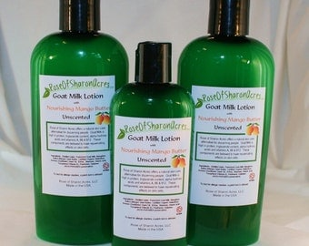 Mango Butter Goat Milk Lotion (4 ounce) - Rose of Sharon Acres