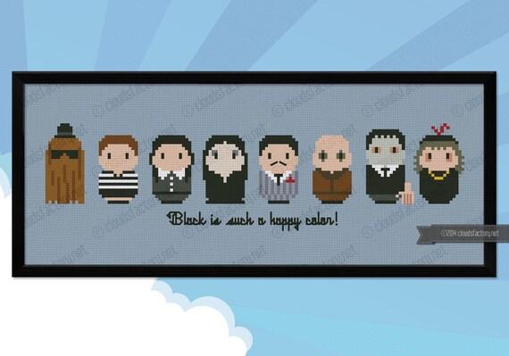 The Addams Family parody - Cross stitch PDF pattern