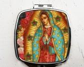 Virgen de Guadalupe Pocket Mirror