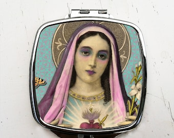 Virgin Mary Pocket Mirror