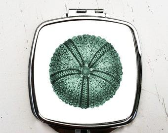 Green Sea Urchin Compact Mirror