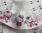Ruffle Socks Personalized MTM Kitty Inspired Girls Toddlers Infants Peagant