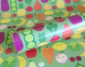 5 A Day Wrapping Paper - 5 Sheets - Kawaii Fruit & Vegetables