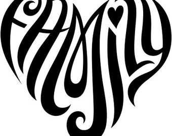 Custom Heart Design for Initials or 1 Name