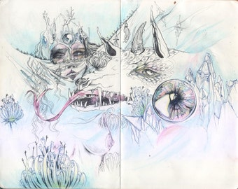 Blue Veil // Faerie / Fantasy Art Print