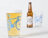 VITAL BIKE GLASSWARE screen printed bicycle glasses Pint size