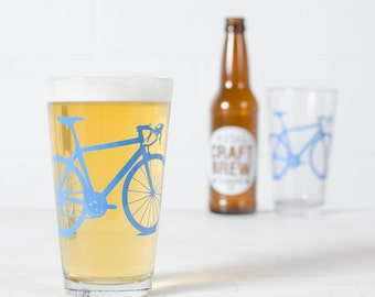 VITAL BIKE GLASSWARE screen printed bicycle glasses Pint size