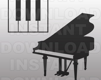 Piano SVG File,Pianist SVG File,Music svg File-Cut File-Vector Clip Art for Commercial & Personal Use for Cricut,Cameo,Silhouette,Vinyl