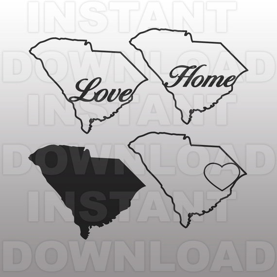 South Carolina Home Svg File Vector Clip Art For Commercial