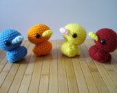 Duckling Amigurumi - Duck Doll with ornament or keychain option - ready to ship