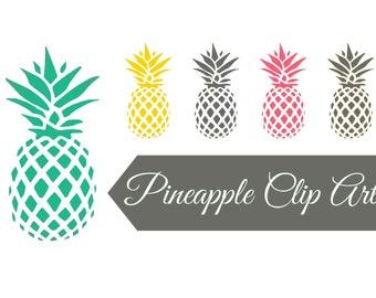 Instant download digital clip art - Pineapples
