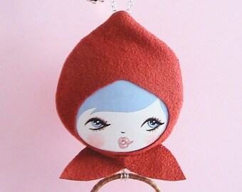 Little Red Riding Hood Doll Face Necklace
