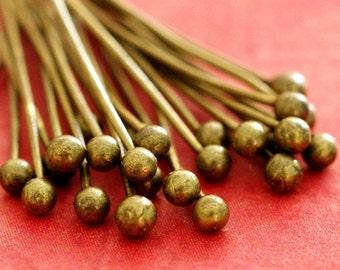 100pcs 20mm Antique Bronze Finish Ball Pins