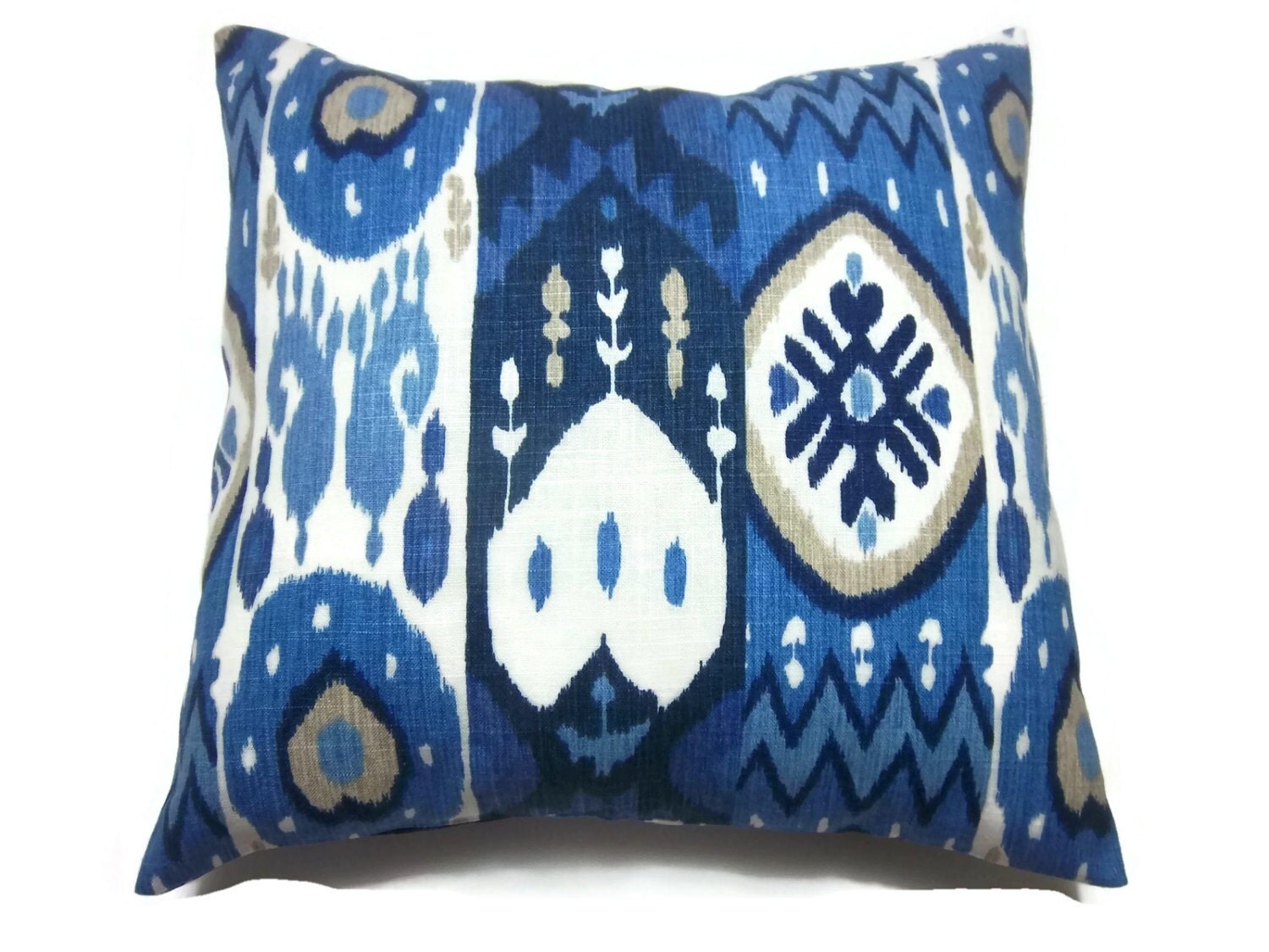 Light Blue Throw Pillow Covers : Decorative Pillow Cover Navy Blue Light Blue by LynnesThisandThat