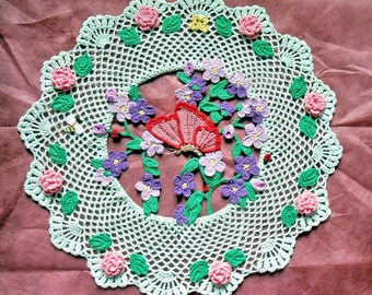 Butterfly in the Garden Doily
